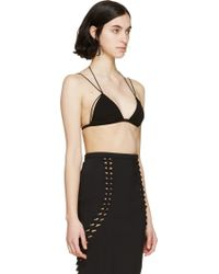 Dion Lee - Black Georgette Float Bra - Lyst