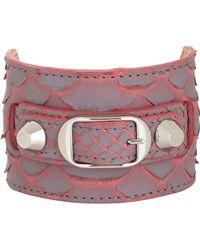 Balenciaga Python Ligne Classic Bracelet - Lyst