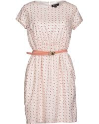 Cutie White Short Dress - Lyst