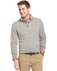 Izod Big And Tall Quarter-Zip Sueded-Fleece Pullover - Lyst