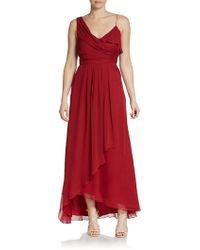 Jill Jill Stuart One-Shoulder Draped Silk Chiffon Gown - Lyst