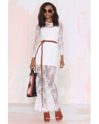 Nasty Gal Lace Lady Maxi Dress - Lyst