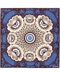 Valentino Flower Eye Silk Twill Scarf - Lyst