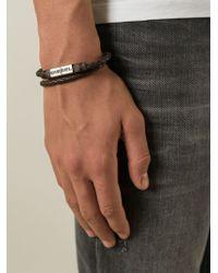 Diesel Brown 'Alibys' Bracelet - Lyst