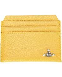 Vivienne Westwood Orb Plaque Cardholder yellow - Lyst