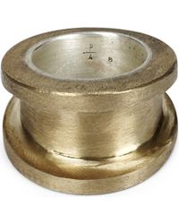 Parts Of 4 - Chasm Wide Brass And Silver Ring - Lyst
