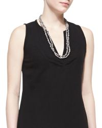 Eileen Fisher Bandhini Printed Cotton Necklace - Lyst