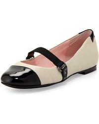 Taryn Rose Bay Nappa Leather Mary Jane Flat - Lyst