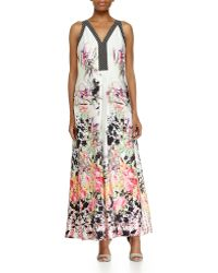 Ranna Gill - Sleeveless Floral-Print A-Line Dress - Lyst