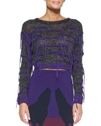 Risto Willow Ribtrim Stringy Crop Top - Lyst