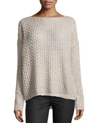 Vince Cableknit Boatneck Sweater - Lyst