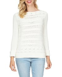 Cece by Cynthia Steffe | Horizontal Cable Knit Jumper | Lyst