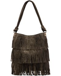 Mr. - Hudson Suede Fringe Shoulder Bag - Lyst