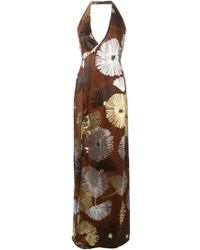 DSquared² Floral-Print Silk-Blend Gown - Lyst