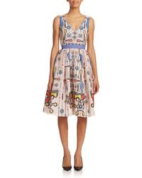 Peter Pilotto | Ace Printed Jacquard Dress | Lyst