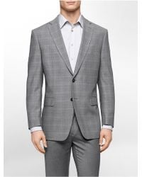 Calvin Klein White Label Classic Fit Grey Check Sports Jacket - Lyst