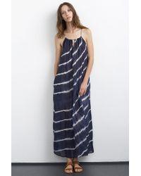 Velvet By Graham & Spencer Filipa Tie Dye Silk Cotton Voile Maxi Dress blue - Lyst