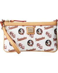 Dooney & Bourke Collegiate Large Slim Wristlet - Lyst