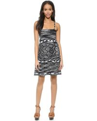 M Missoni Crochet Zigzag Dress - Black - Lyst