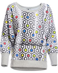 Simeon Farrar - Batwing Sweatshirt With Carpet Print - Lyst