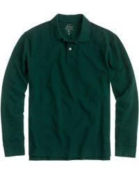 J.Crew Long-sleeve Classic Piqué Polo - Lyst