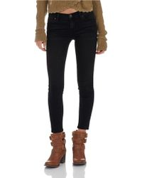 Free People Cropped Skinny Jeans - Lyst