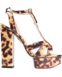 Charlotte Olympia Indiana Leather Sandals - Lyst