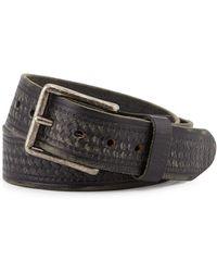 Will Leather Goods - Vintage Tooled Basket-weave Belt - Lyst