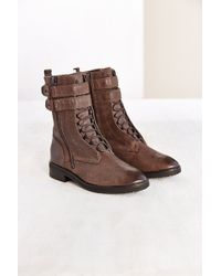 Dolce Vita Nolee Buckled Combat Boot - Lyst