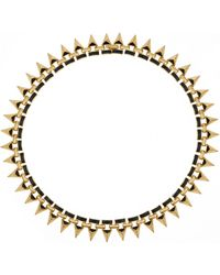 Noir Jewelry Gold-plated Enamel Necklace - Lyst