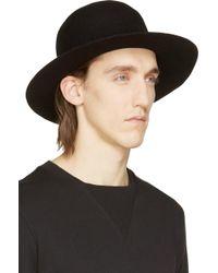 Robert Geller Black Wool Dominik Hat - Lyst