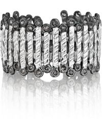 Coomi - Spring Silver Band Ring With Diamonds - Lyst