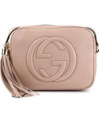 Gucci Logo Embossed Pochette - Lyst