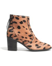 Madewell - The Ames Boot in Leopard - Lyst