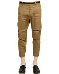 DSquared² 19.5Cm Stretch Cotton Drill Pants - Lyst