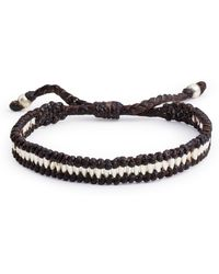 Jan Leslie - Wax Cord With Silver Beads Bracelet - Lyst