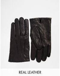 SELECTED - Selected Terrance Leather Gloves - Lyst