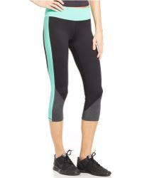 Calvin Klein Colorblocked Cropped Leggings - Lyst