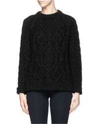 McQ by Alexander McQueen Wool-cashmere Cable Knit Sweater - Lyst