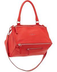 Givenchy Pandora Medium Sugar Leather Satchel Bag - Lyst