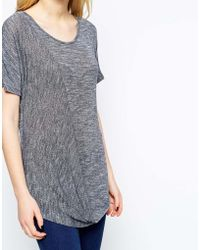 Wal-G - Knit Top With Wrap Front Detail - Lyst