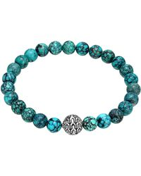 John Hardy Large Turquoise Beaded Bracelet With Magnetic Clasp - Lyst