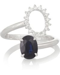 Maison Martin Margiela Fine Jewelry Pompadour 18-karat White Gold Sapphire and Diamond Ring - Lyst
