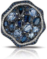Marco Moore - Sapphire, Diamond And 14k White Gold Cocktail Ring - Lyst
