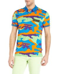 Love Moschino Multicolor Camouflage Polo - Lyst