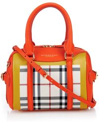 Burberry Prorsum Little Bee Colour-Block Leather Cross-Body Bag orange - Lyst