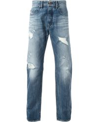 Diesel Buster Distressed Straight Jeans - Lyst