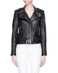 IRO 'Zaki' Leather Biker Jacket - Lyst