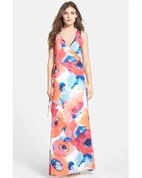 Trina Turk Print Jersey Maxi Dress - Lyst