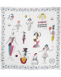 Olympia Le-Tan Fantastic Scarf In White - Lyst